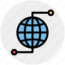 earth, globe, networking, world, world globe, worldwide icon