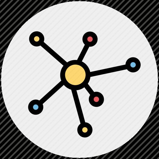 atom, connection, hierarchy, link, status icon
