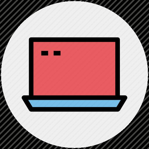 computer, display, laptop, laptop screen, screen icon