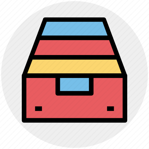 archive, box, document, inventory, package icon