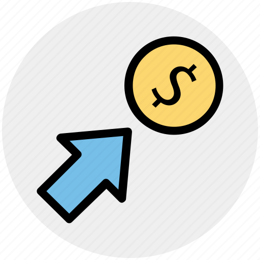 Arrow, coin, currency, dollar, money icon - Download on Iconfinder