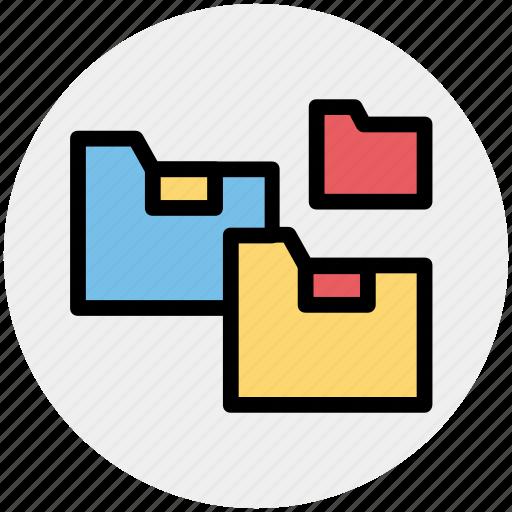 archive, essential, folder, folders, network icon