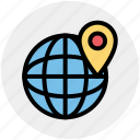 globe, map, mountains, trip, world, world map icon