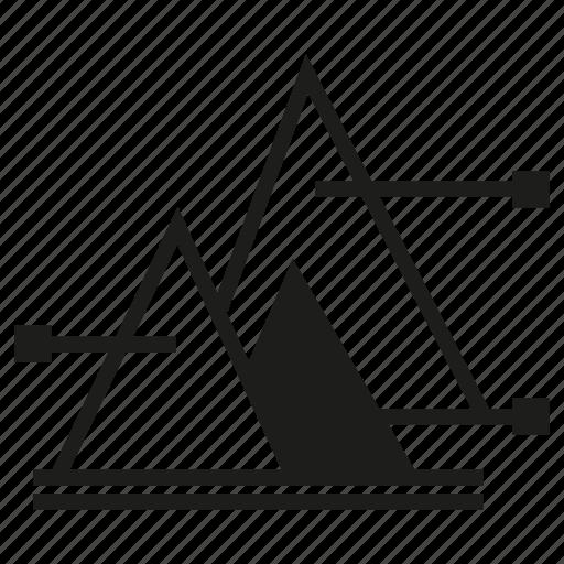 chart, graph, pyramid chart icon