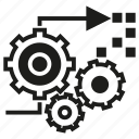 cogwheel, gear, processing icon