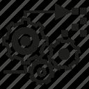 cogwheel, gear, processing