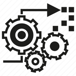 cogwheel, gear, processing icon