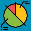 analytics, chart, data, graph, pie icon