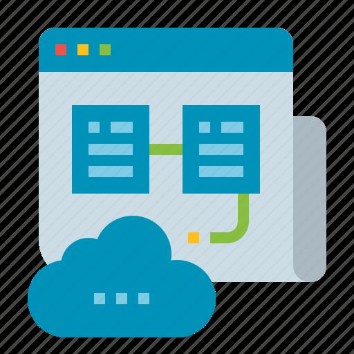 cloud, hosting, server, storage, web icon