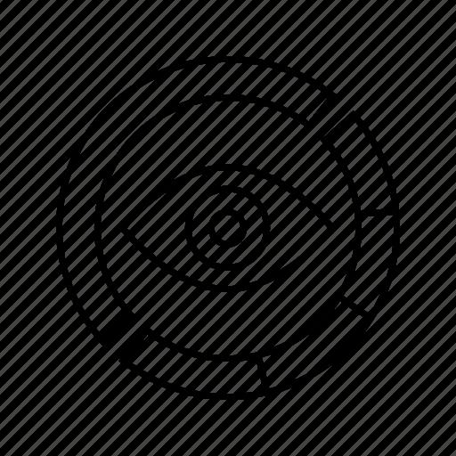 eye, iris scan, scan, sensor icon