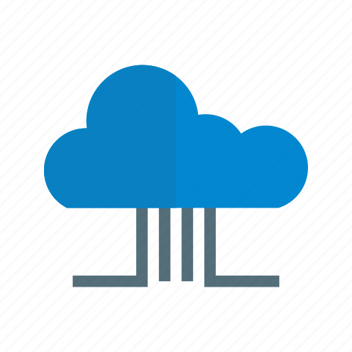 architecture, cloud, connection, digital, network, server, technology icon