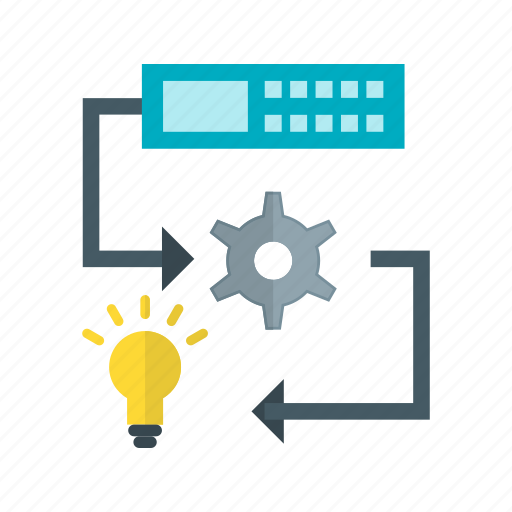 figures, intelligence, learning, machine, network, system, technology icon