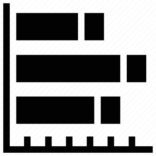 analytic, arrow, business chart, horizontal bar chart, horizontal chart, report bar chart icon