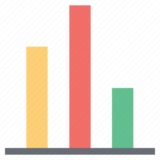 analytic, arrow, bar chart, business chart, chart, report bar chart icon