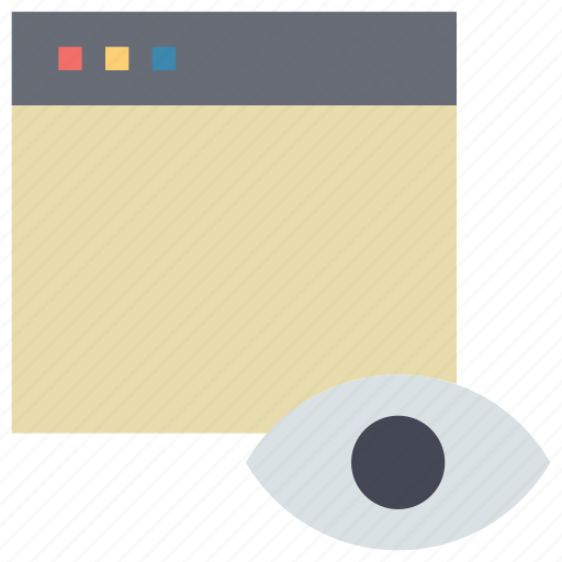 eye, screen, tab, view, visiter, window icon