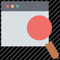 analysis, analytics, computer, magnifying, monitoring, searching, statistics icon