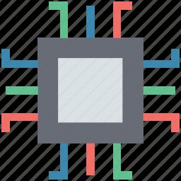 chip, cpu, hardware, microchip, processor icon