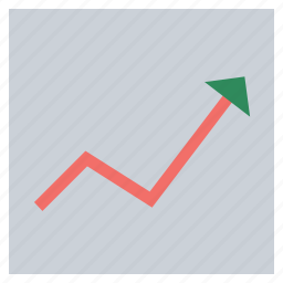 analysis, analytics arrow, diagram, graph arrow, line chart, plot, statistical graphic, ups and downs graph icon