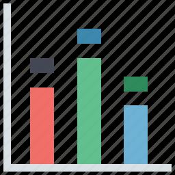 arrow, bar chart, business chart, chart, diagram, report bar chart, vertical chart icon