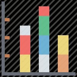 arrow, bar chart, business chart, chart, diagram, report bar chart icon