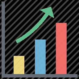 analysis, analytics arrow, diagram, line chart, plot, statistical graphic icon