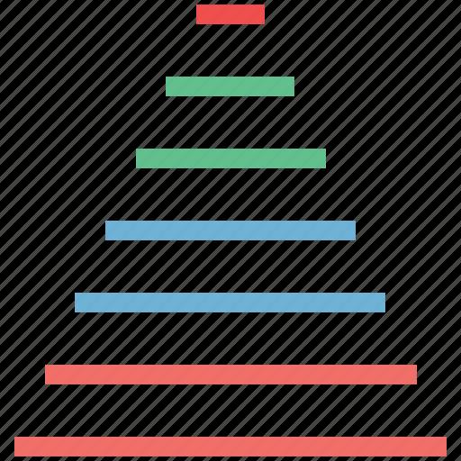 analytics, chart, graphicon, grow, horizontal color chart, horizontal line chart, report icon