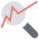 analysis, bar chart search, magnifying, search analytics