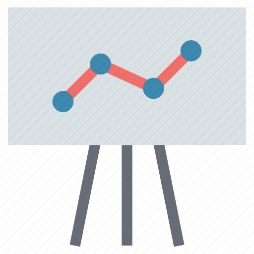 analysis, analytics, chart, diagram, graph on board, presentation, presentation on graph icon