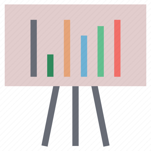 bar chart on board, bar chart presentation, business plan chart, graph on board, presentation, presentation on graph icon