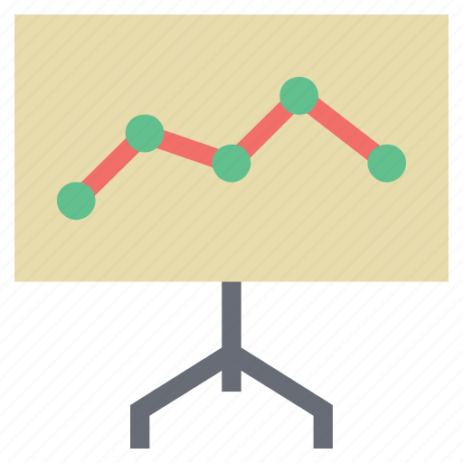 analysis, analytics, chart, diagram, graph on board, presentation, presentation on graph icon