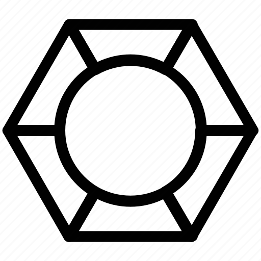 circle chart, data analytics, pie chart, polygon pie chart, polygonal functions icon