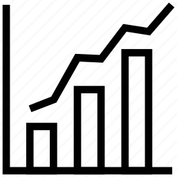 bar chart, bar chart with arrow, bar chart with high arrow, diagram, diagram with arrow icon