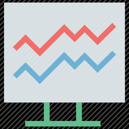 analysis, analytics, chart, diagram, graph, plot chart, plot chart presentation, pulse chart icon