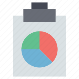 business plan chart, pie chart, pie chart clipboard icon