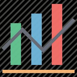 analytics, bar chart, data analytics, diagram, graph, report, statistics icon