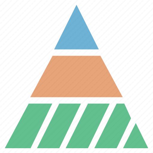 analytic, business chart, delta chart, pyramid chart, triangle chart icon