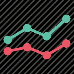 analytics, chart, data, growth, line graph, report, statistics icon