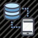 base, data, mobile, phone, server, storage, sync