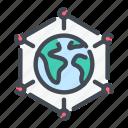connect, connection, data, eartch, globe, sattelite, sputnik icon