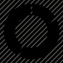 chart, circle, data, donut, graph, statistics icon
