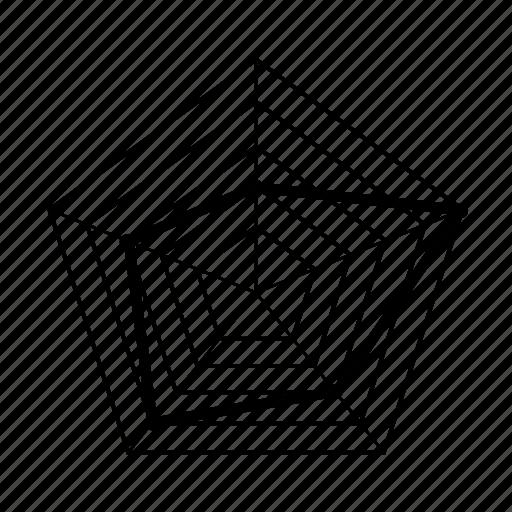 chart, data, graph, radar, spider, statistics, web icon
