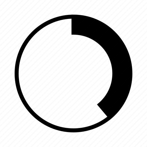 chart, diagram, donut chart, progress, progress bar icon