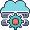 cloud, database, server, setting