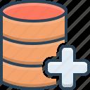 add, data, database, new, server