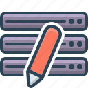 data, database, edit, modification icon