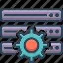 database, server, settings, storage