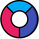 chart, data, doughnut, graph, statistics, stats icon
