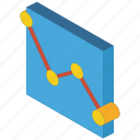 chart, graph, iso, isometric, scatter icon