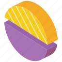 graph, half, iso, isometric, pie icon