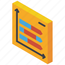 arrow, graph, iso, isometric, tile icon